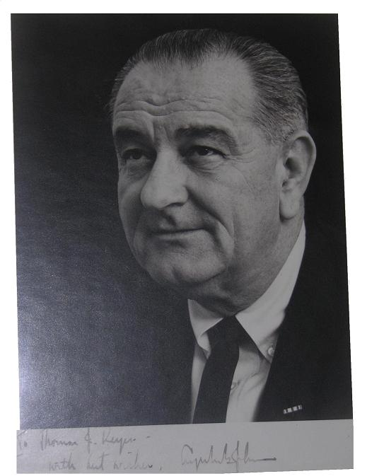 President LBJ to Deputy Commissioner Thomas Keys