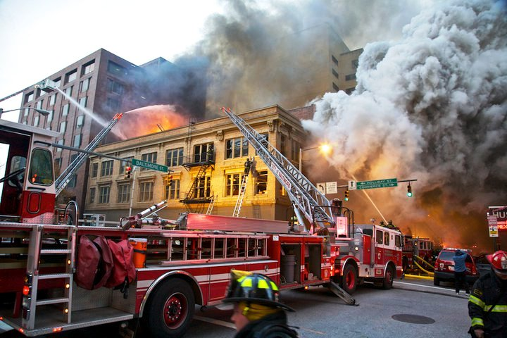 Five Alarm fire on the BLOCK