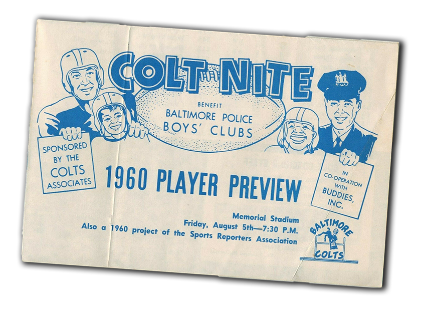 Colts Baltimore Police Boys Club 1960 72