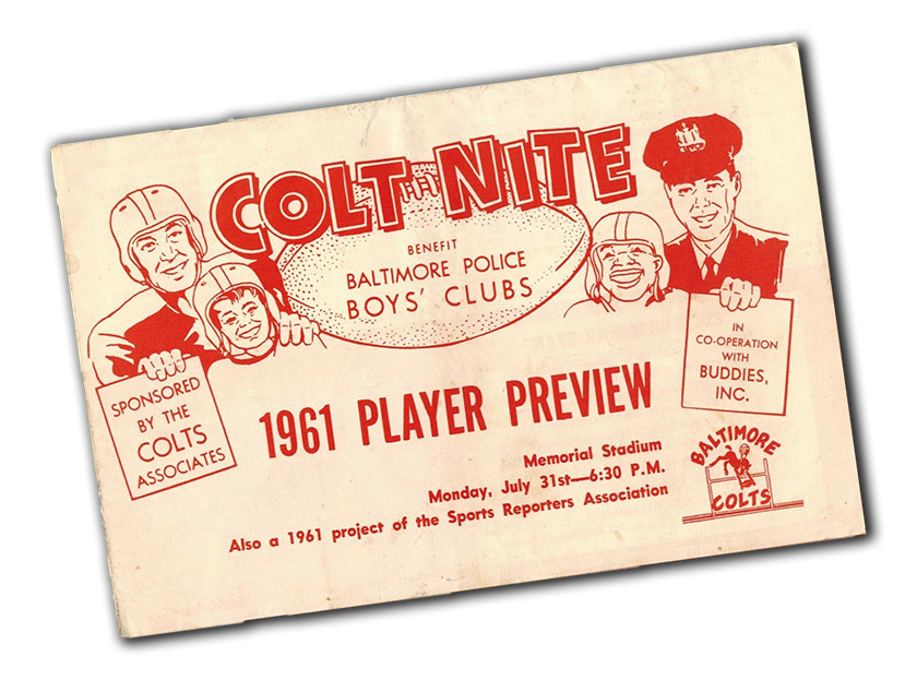 Colts Baltimore Police Boys Club 1961 72