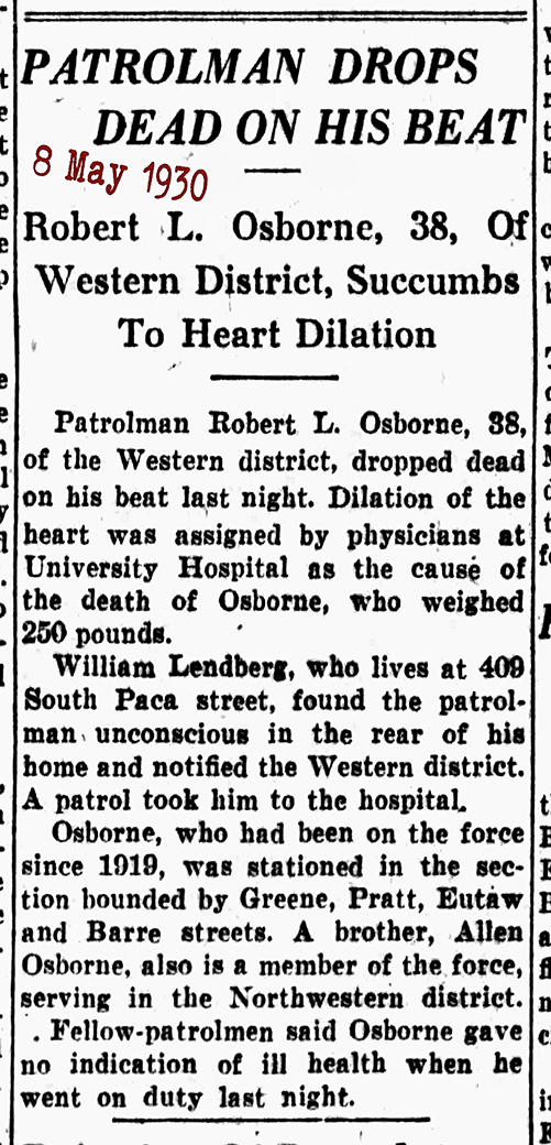 The Baltimore Sun Thu May 8 1930 Robert Osborne 72