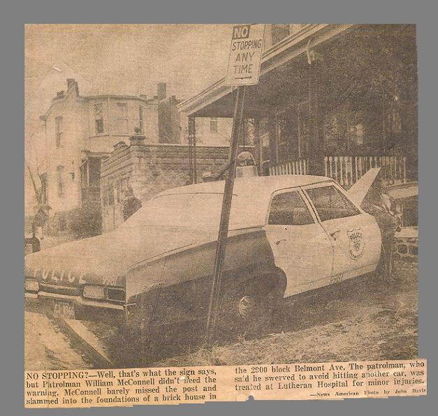 1967chev accident with house