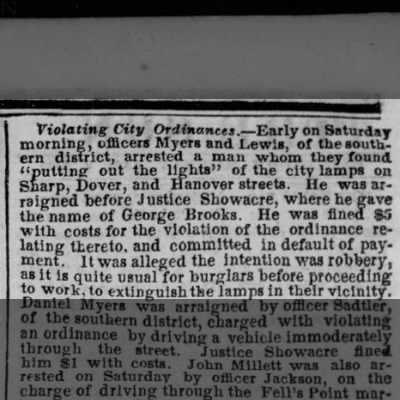 2 January 1860 Baltimore Sun article