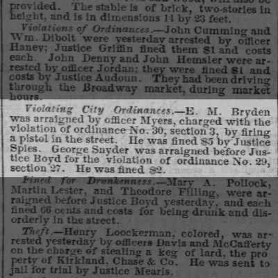 3 November 1858 Baltimore Sun article