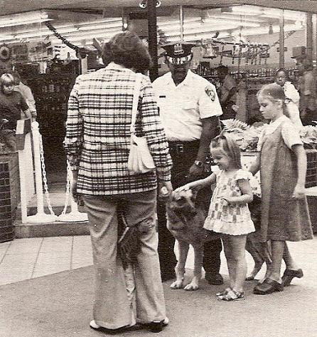 k 9 officer at city fair 1978