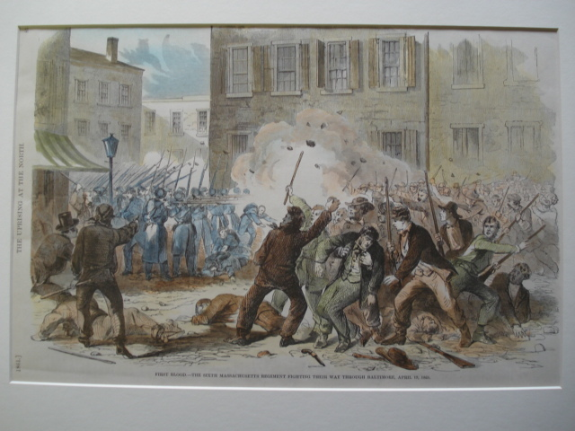 6th MA Regiment fighting through Baltimore MD 1861