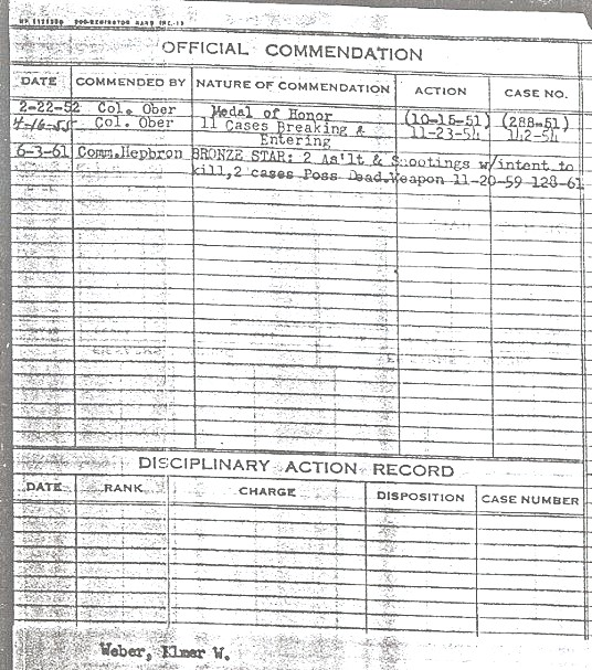 commendation record
