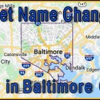 Baltimore City Street Name Changes